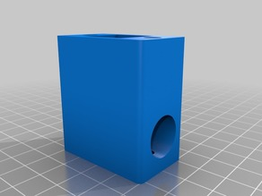 Monoprice select mini x-axis end cap with z-stabilizer bearing hole.