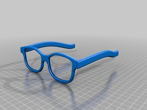 3D cinema type glasses with hinge / unmounted
