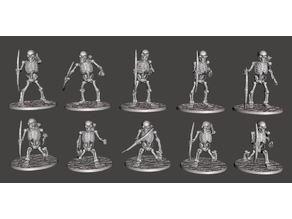Skeleton Warriors with Longbows x 10 Poses