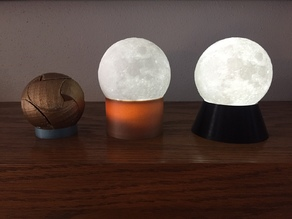 Customizable Moon/Globe/Sphere Stand