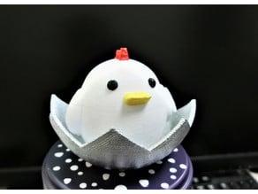 Chicken in eggshell