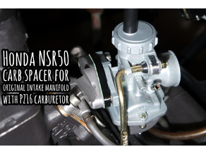 Honda NSR50 carb spacer for original intake manifold with PZ16 carburetor
