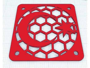 Turkish Flag Themed 40mm Fan Cover