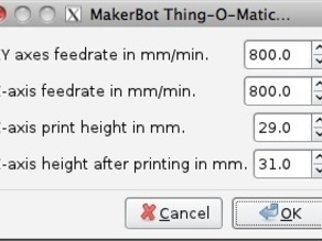 Thing-O-Matic G-Code Extension for Inkscape