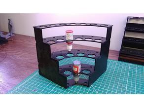 Modular Hobby Paint Rack - Inside Corner