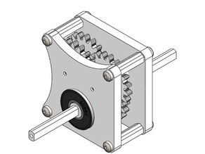 Gearbox with adjustable ratios