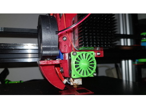 E3D Titan Extruder x Carriage with fan holder, complete package