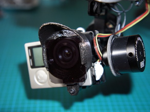 GoPro Hero3 Hero4 lens hood and filter holder for DYS 3-axis SMART gimbal