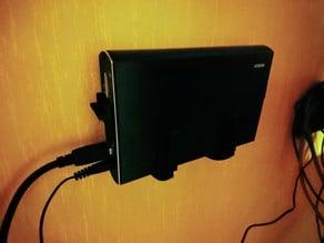Deltaco hard drive enclosure wall mount
