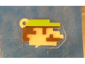 Pixel keychain Mario/Luigi