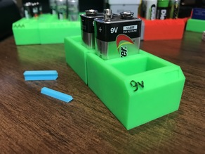 9volt BattBlox (Nine volt battery storage)