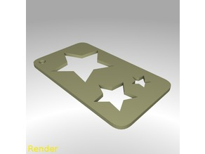 Star Shape Drawing Stencil