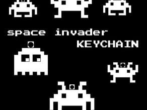 8-bit space invader keychain