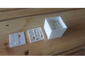 Mazecube 1 / 3D-Maze 5 layers / Ø5 marble