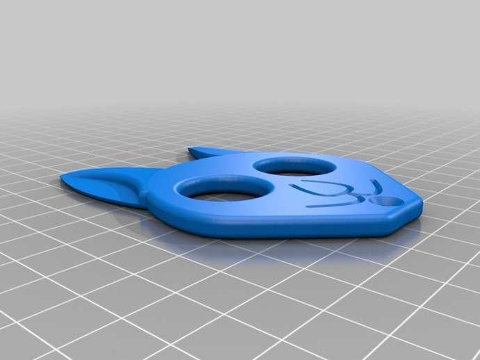 Kitty Self Defense Keychain By Brandonw6 Thingiverse