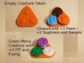 Magic: The Gathering Basic Creature Token (3-Counter Holder) MtG #MtGCounters