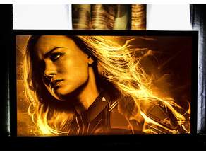 Captain Marvel Lithophane