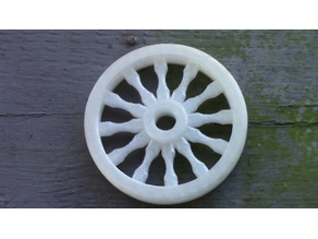 Wagon wheel pendant or ornament