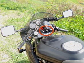 GPS and Phone mount adapter for Clip On Handlebars