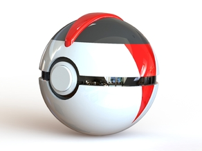 Timer Ball - Fully Functional PokeBall with Button and Hinge
