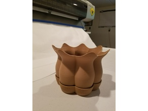 lofted pot and saucer