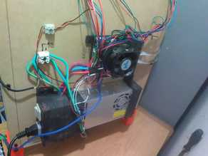 PSU holder with interlock and switch