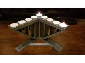 Tea Candle Menorah
