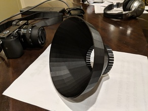 A6000 Lense hood customizable