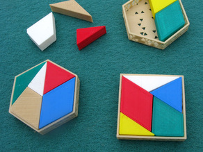 Hexagon into Square Puzzle