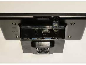 """Official Raspberry Pi 7"""" LCD Case Fan Back Cover"""