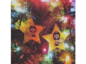 Mario & Luigi Fame Star Xmas tree Ornaments