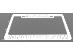 Wolverine's - The Fight Begins At Dawn, License Plate Frame, Red Dawn