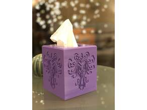 Haunted Mansion wallpaper inspired tissue box