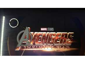 Marvel Avengers Logo (keychain, hidden hole)