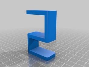 """Customized Parametric Desk Hook for 1.125"""" desk"""