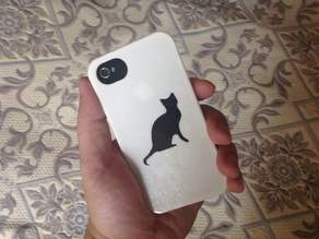 iPhone 4S Stencil Case - Cat