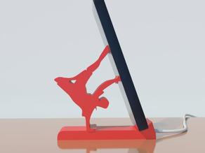 smartphone stand- breakdance style