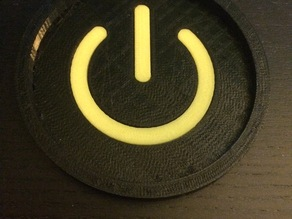 Power Symbol Coaster