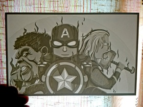 Little Avengers  lithophane