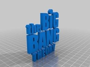 The Big Bang Theory (atom symbol in logo) logo
