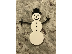 Snowman Christmas Tree Ornament with Light up Nose