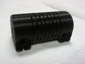 Helical motor/shaft coupler