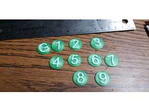 Numbered Tokens