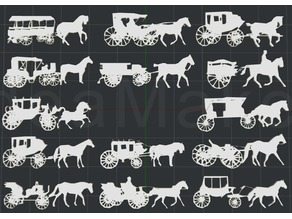 Horse and Buggy 2D Wall Art Collection