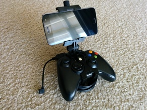 Xbox 360 Controller Phone Clip with Modular Mounting System