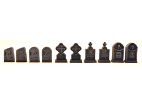 Gravestone Pack (28mm scale)