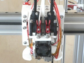 3-wheeled or Linear Railed Modular X-carriage (D-Bot Core_XY 3D Printer)