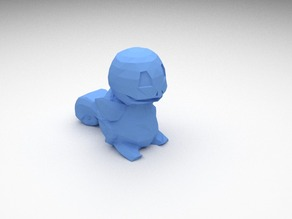 Low-poly Squirtle