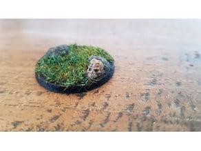 Miniature Base Rock Skull 28mm