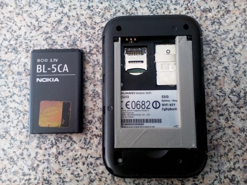 Modem E5372 battery Nokia BL-5CA update by pfonseca - Thingiverse